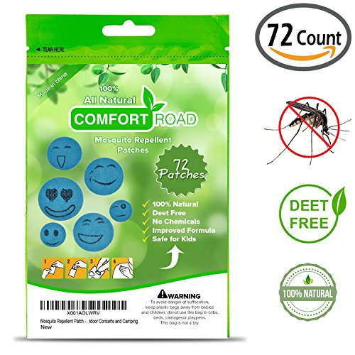 Comfort Road - Mosquito Repellent Patch 72 Count Keeps Insects and Bugs Far Away, Simply Apply to Skin and Clothes , Adult, Kid-Friendly , Convenient For Travel, Outdoor and Camping by Comfort Road