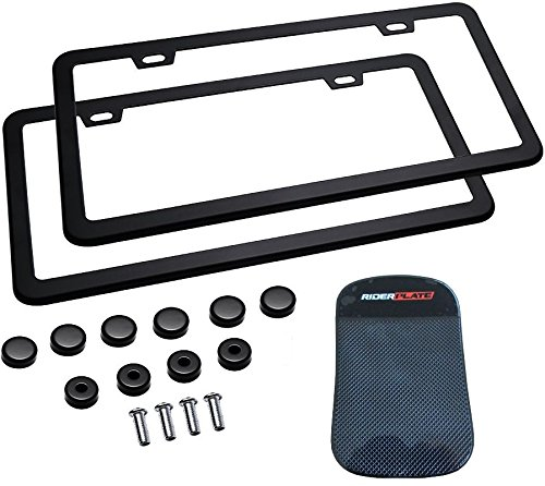 license plate frame black 2 pack - 8