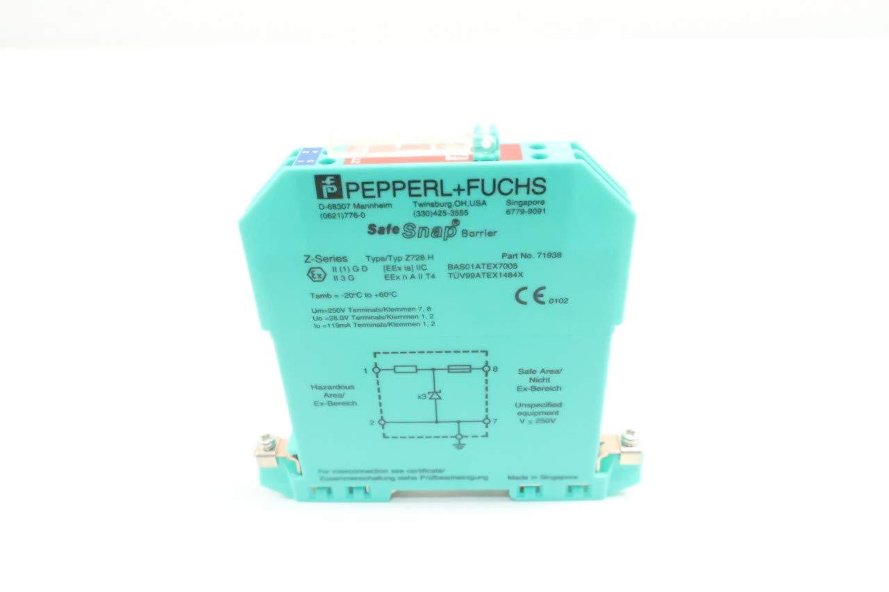 Pepperl Fuchs 71938 Z728h Safe Snap Zener Barrier D633632 Amazon Wiring Diagram Industrial Scientific