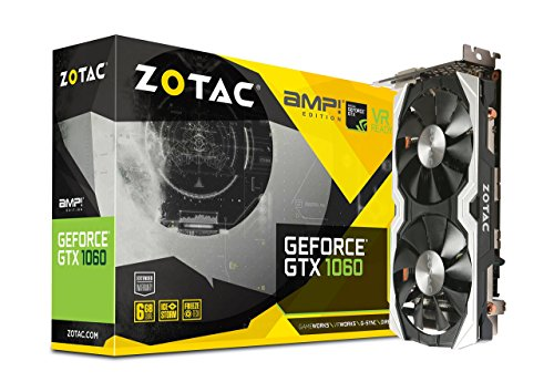 ZOTAC GeForce  GTX 1060 AMP Edition, ZT-P10600B-10M, 6GB GDDR5 VR Ready Super Compact Gaming Graphics Card (Renewed)