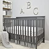 American Baby Company 3 Piece Crib Bedding Set, Gray, 28