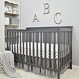 "American Baby Company 3 Piece Crib Bedding Set, Gray, 28"" x 52"""