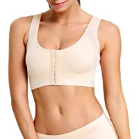 Women Post Surgery Bra Sports Support Surgical Wireless Front Closure Comfort Brassieres with Adjustable Straps