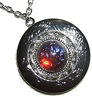 fqbe lockets necklace listing il fire pink locket mothers silver opal
