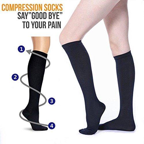 4 Pairs Compression Socks For Women and Men -- Best Medical, Nursing, Athletic, Edema, Diabetic,Varicose Veins , Maternity, Travel, Flight Socks - Running, Fitness -15-20mmHg. (S/M, Assort1)