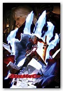 (24x36) Devil May Cry 4 (Nero, Dante, Hand) Video Game Poster Print