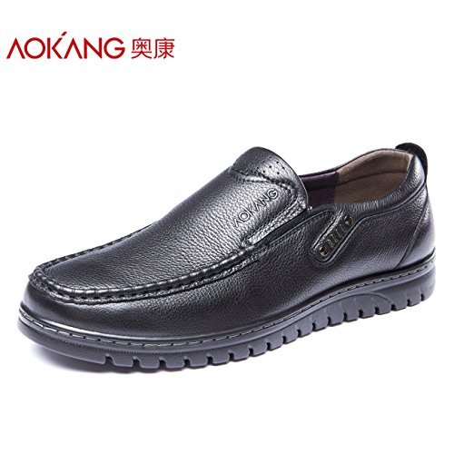 Aemember Hommes Chaussures D'affaires Occasionnels Hommes Chaussures Et Ensemble De Script Confortable, Léger, Chaussures Low-cut, 41, Noir