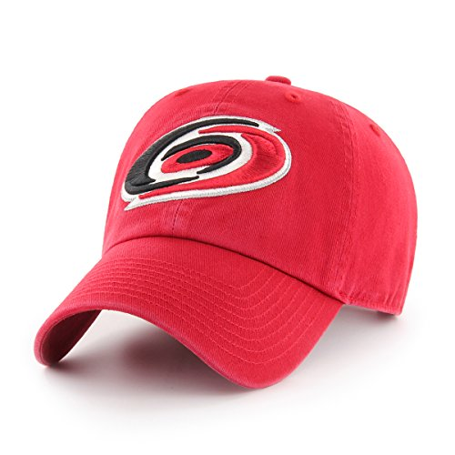 NHL Carolina Hurricanes OTS Challenger Adjustable Hat, Red, One Size (Red Hurricane)