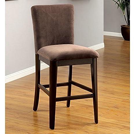 Brooke Velvet Upholstered Counter Height Dining Chairs   Set Of 2