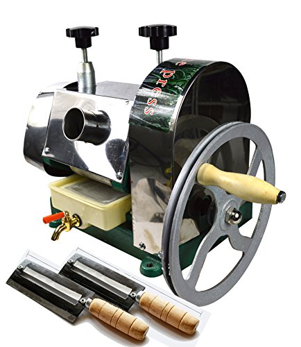 Commercial Manual Sugar Cane Ginger Press Juicer with Knives Wooden Case