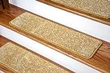 Dean DIY 30'' x 9'' Premium Carpet Stair Treads - Color: Softique Straw