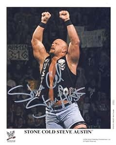 Stone Cold Steve Austin - Autographed WWE Wrestling 8x10 Promo Photo