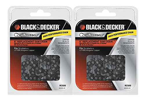 Black & Decker LP1000 / NLP1800 Saw (2 Pack) Replacement 6'' Chain # RC600-2pk by Black & Decker