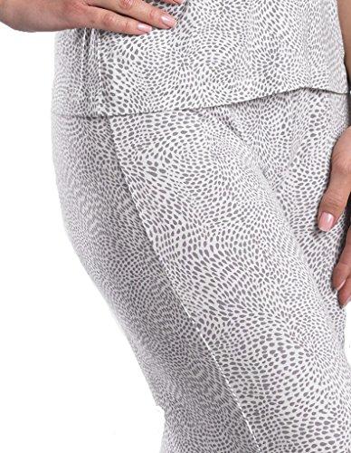 Slenderella Loungewear Bas de Pyjama - Ivoire et Gris GL08714