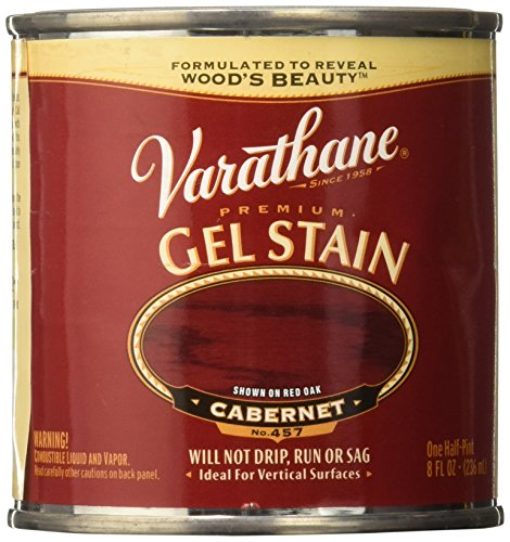 Varathane 224501 Premium Gel Stain, Half Pint, Cabernet