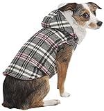 Fashion Pet Plaid Hooded Dog Coat, Medium, Pink