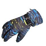 Mokylor Neon Laser Striped Waterproof Thinsulate Ski Gloves, Couple Gloves