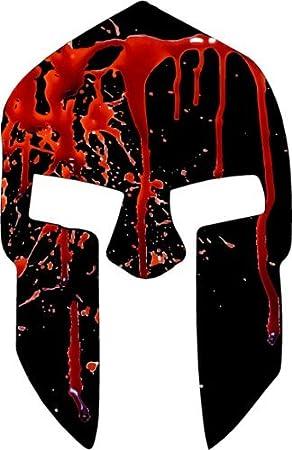 WickedGoodz Sangrienta Casco Espartano Etiqueta del Vinilo - Sparta para el Parachoques - Gran 5x3.3 Negro Rojo: Amazon.es: Coche y moto