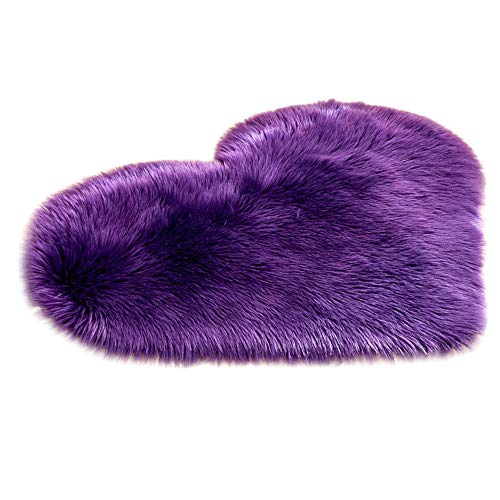 (Creazy Wool Imitation Sheepskin Rugs Faux Fur Non Slip Bedroom Shaggy Carpet Mats (E))