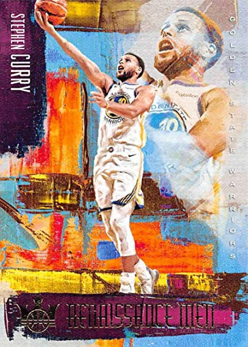 2018-19 Court Kings Renaissance Men Basketball #22 Stephen Curry Golden State Warriors Official NBA Trading Card From Panini America ()