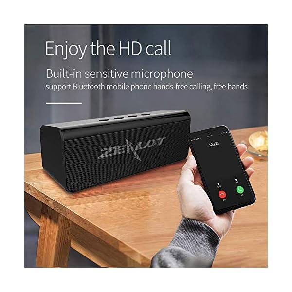 Enceinte Bluetooth Portable, Mini Haut-Parleur Bluetooth Enceinte Portable sans Fil, avec Universel Support, Compatible Android iOS et Autres Appareil (C-Noir) 5