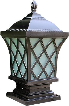 Farol de vidrio Farol de poste Exterior Colección de la casa Pilar de aluminio fundido a