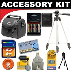 4GB DB ROTH Pro Deluxe Accessory kit For The Pentax K-X SLR Digital Camera
