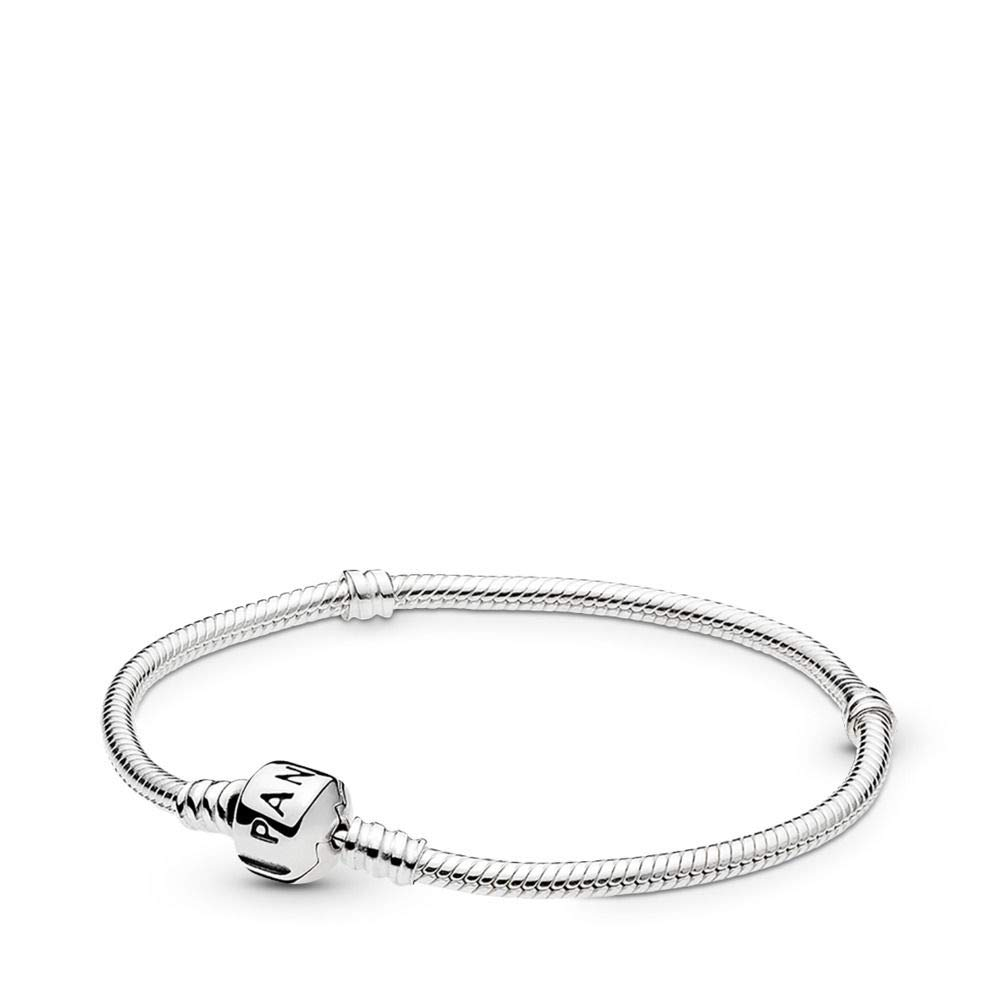 PANDORA Iconic Silver Charm Bracelet, Sterling Silver, 7.1 in by PANDORA