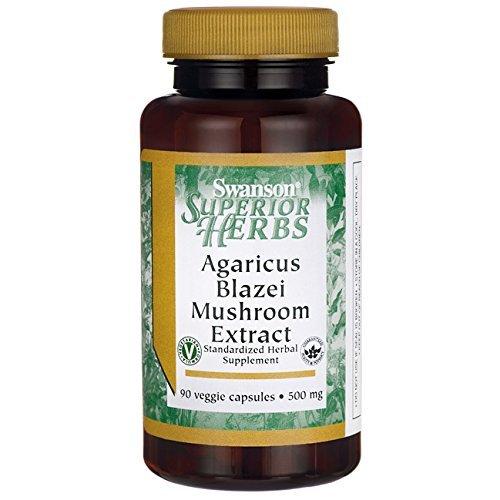 Agaricus Blazei Mushroom Extract 500 mg 270 Veg Caps Made in USA by Swanson