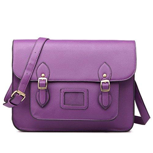 Signorina Lulu, Borsa A Tracolla Da Donna Multicolore Viola