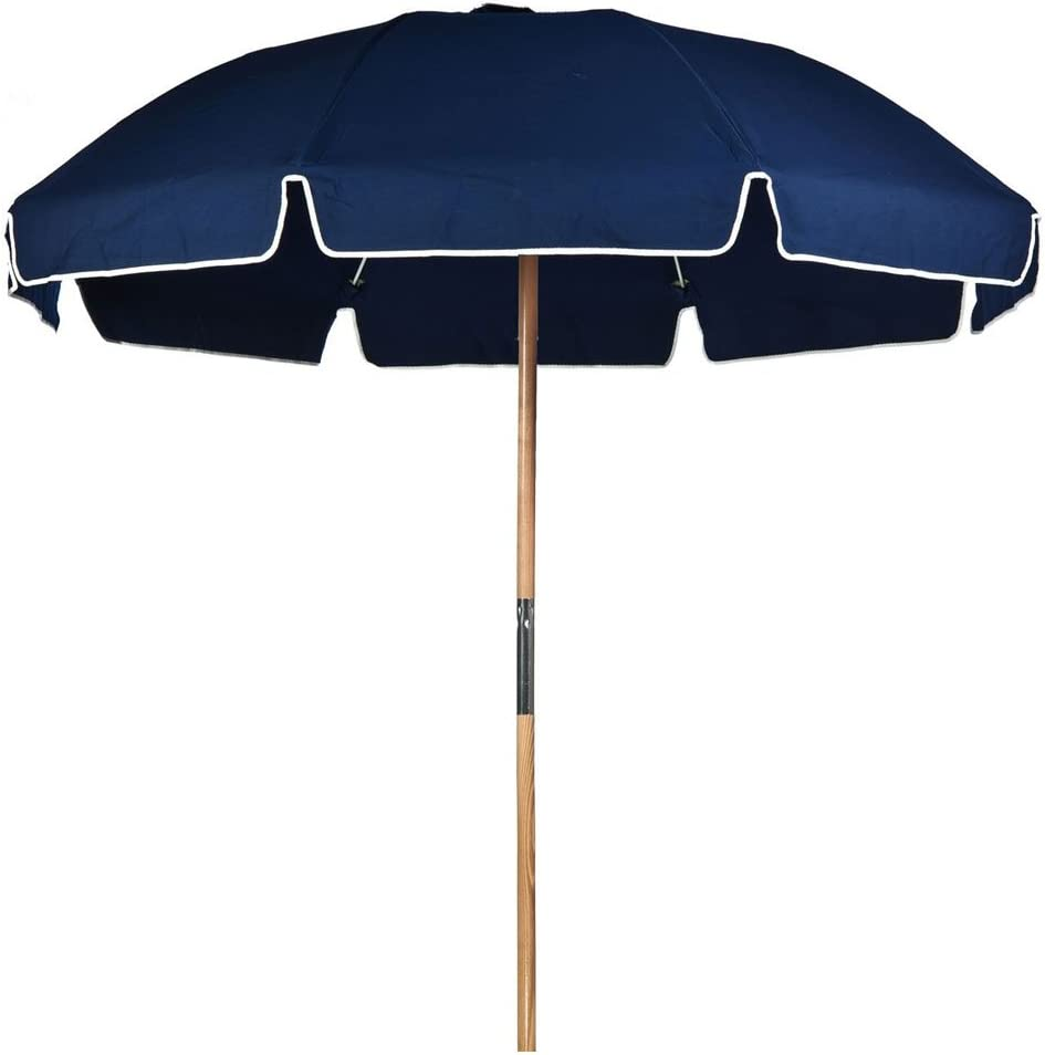 7.5 ft. Fiberglass Commercial Grade Beach Umbrella with Ashwood Pole Olefin Fabric Carry Bag