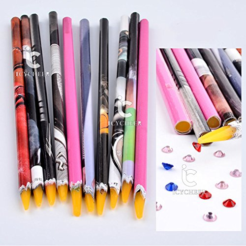 1pc Nail Art Dotting Pen Wax Pencil Picking Crystal Rhinestone Gem Dotting Tool Ever.Grace