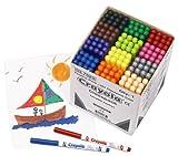 Crayola Supertips Felt Tip Colouring Pens Classpack of 144 - 12 colours