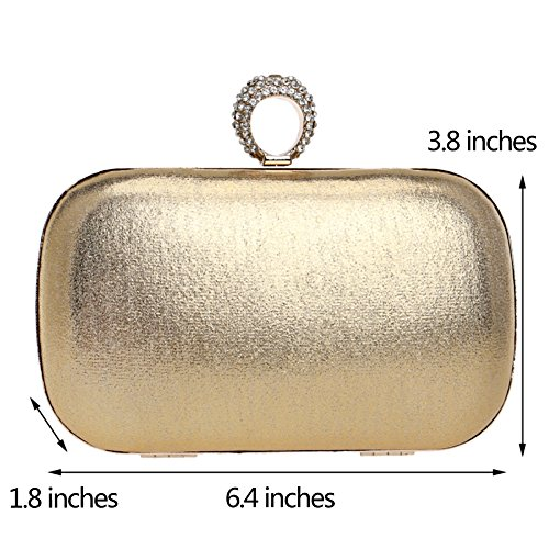 Womens Chain PU Wallet Bags Ladies Purse Dress Clutch Shoulder Evening Gold Wedding Bags wx4EPqf8