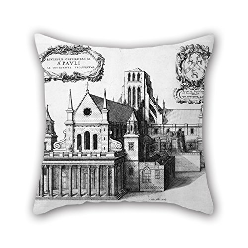 West Side Lounger (Cushion Covers Of Oil Painting Hollar, Wenceslaus - Print; Etching - St Paul's From The West For Bar Seat Lounge Son Car Teens Girls Kids Boys 18 X 18 Inches / 45 By 45 Cm(twice Sides))