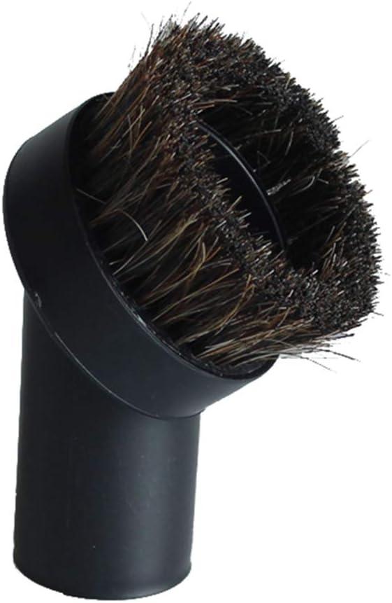 "GIBTOOL Vacuum Replacement Round Dusting Brush Soft Bristle Vacuum Attachment 1.25"" 1-1/4"" 32mm Black Brush for Most Brand Accepting 1.25'' Attachment -"