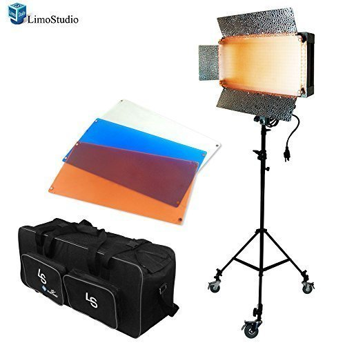 LimoStudio Photo Video Studio 500 LED Barn Door Continuous Lighting Panel Kit, Dimmable 500 LED Photo Video Barndoor Light, AGG1286 by LimoStudio