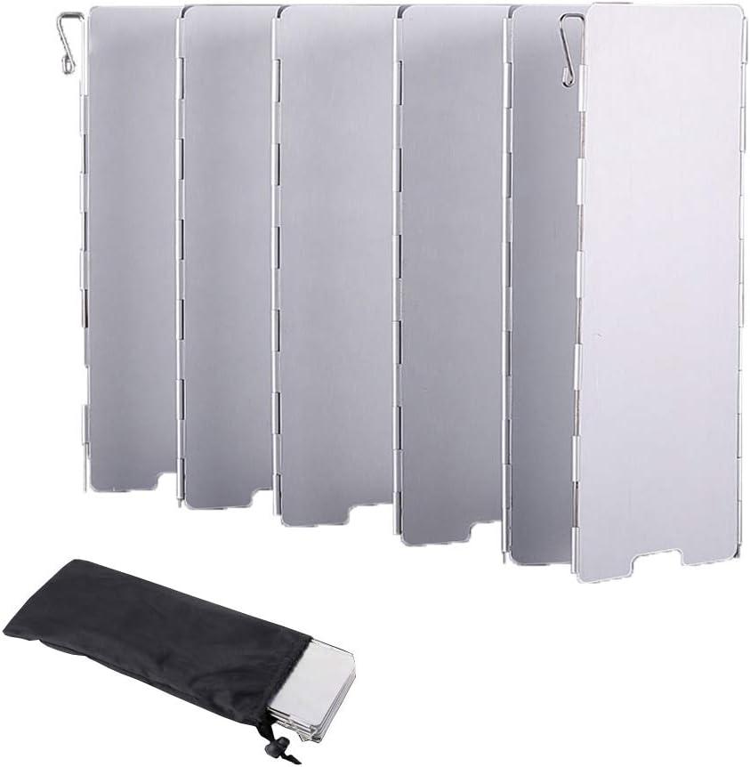 Maotrade - 10 placas de cocina de aluminio plegable para camping, estufa de gas, estufa de alcohol, hamburguesas, picnic al aire libre y barbacoa con ...