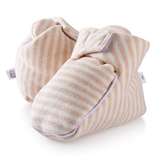 Xidan Organic Cotton Baby Bootie Ergonomic and Kick Proof (peachpuff, 6M)