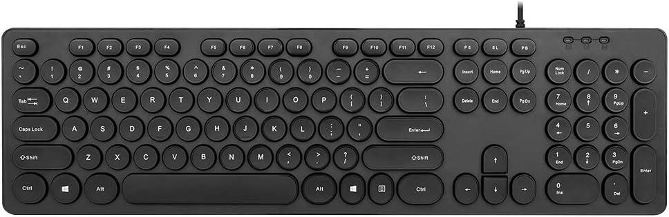 SKYHY224 LED Backlit Retro Typewriter Mechanical Keyboard -Blue Switch - Round Keycaps -104 Keys Vintage Inspired Steampunk Gaming Keyboard–Mechanical Gaming Keyboard for PC/Mac/Gamer/Typ