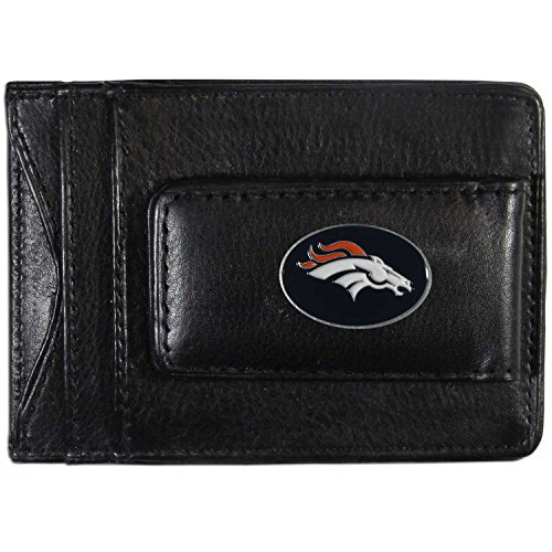 NFL Denver Broncos Leather Money Clip Cardholder