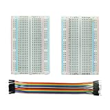for Arduino Starter Kits 400 Tie Points Solderless Breadboard + 10pcs Jumper Cables K3