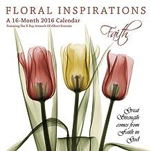 Floral Inspirations 2016 Square 12x12 Wall Calendar