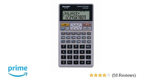 amazon com sharp el 738fb 10 digit financial calculator electronics rh amazon com User Manual Sharp Fax Machines User Manual Sharp Fax Machines
