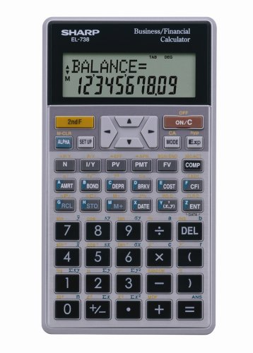 amazon com sharp el 738fb 10 digit financial calculator electronics rh amazon com