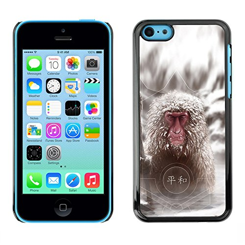 Omega Case PC Polycarbonate Cas Coque Drapeau - Apple iPhone 5C ( Cool Japanese Snow Monkey )