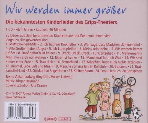 Wir Werden Immer Größer Die Besten Kinderlieder Des Grips Theaters