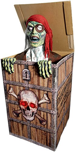 [Forum Novelties Animatronic Prop Animated Pirate in a Chest for Party Decoration, Multicolor] (Halloween Animatronics)