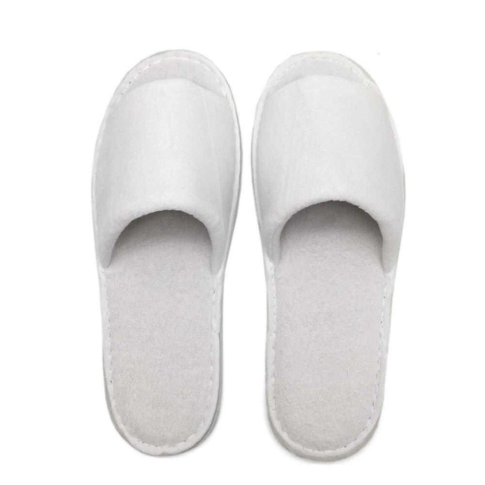 使い捨て可能なスリッパ、白いタオル掛けのホテルのスリッパの鉱泉のゲストの靴 (色 : 20 Pairs) B07SDMQSR8 20 Pairs