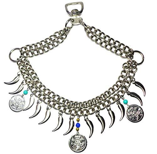 - bonballoon Native Egyptian Arab Arabian Show Horse Noseband Saddle Chains Dance Show Tack Daggers Super Original with Beautiful Decoration Accessories and Beads 437